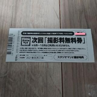 キタムラ(Kitamura)のスタジオマリオ 撮影料無料券  優待券(その他)