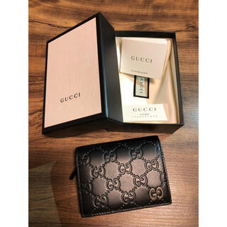 グッチ(Gucci)のGUCCI グッチ レザー ミニ財布 カード&小銭入れ(折り財布)