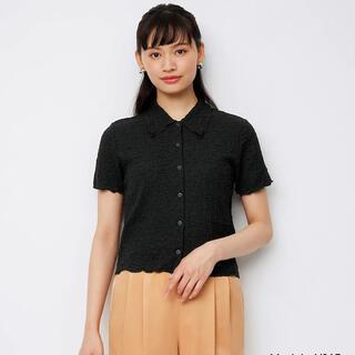 ジーユー(GU)のGU コンパクトカーディガン(半袖)(シャツ/ブラウス(半袖/袖なし))