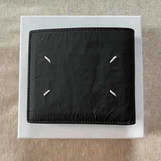 マルタンマルジェラ(Maison Martin Margiela)の21SS新品 メゾン マルジェラ 折り財布 皺加工 今期 黒 メンズ ブラック(折り財布)