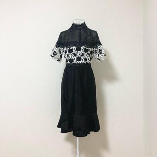 RICK RHE La Couture マクラメラッフルディティールドドレス
