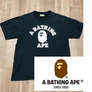 A BATHING APE - A BATHING APE アベイシングエイプ  ロゴ美品 金タグ 価格交渉ok