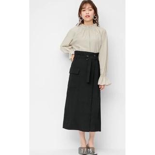 GU - GU ベルテッドサイドポケットナロースカート