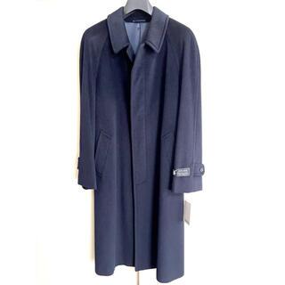 MARITES Collection ステンカラーコート 紺 アンゴラ 新品(ステンカラーコート)