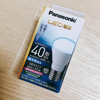 パナソニック(Panasonic)のLED電球 パナソニック 40形 昼光色 E17(蛍光灯/電球)