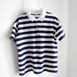 ムジルシリョウヒン(MUJI (無印良品))の「無印良品」コットン100%のボーダーポロシャツ(Tシャツ/カットソー)