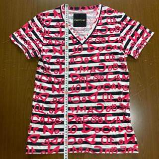ドレスキャンプ(DRESSCAMP)のドレスキャンプ ポップロゴボーダーTシャツ サイズ44(Tシャツ/カットソー(半袖/袖なし))