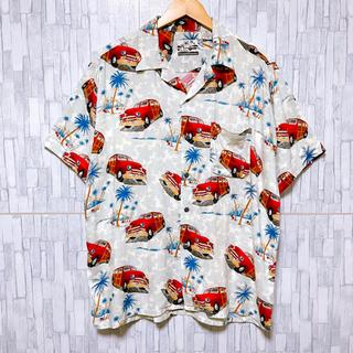Sun Surf - 【超希少】USA古着 車柄 総柄シャツ 半袖 アロハシャツ ビックサイズ