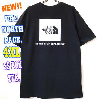 ザノースフェイス(THE NORTH FACE)の超ビッグ ☆ 新品 ノースフェイス BOX Tシャツ 黒 白 4XL 5L(Tシャツ/カットソー(半袖/袖なし))