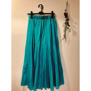 BAYFLOW - ☆BAYFLOW ターコイズブルーのロングスカート