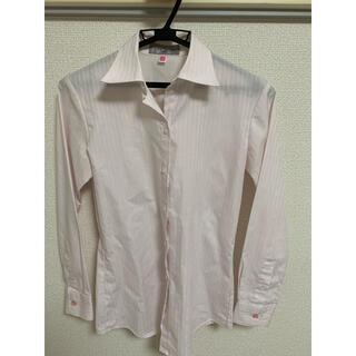 アオキ(AOKI)の【美品】AOKI レディース ワイシャツ(シャツ/ブラウス(長袖/七分))