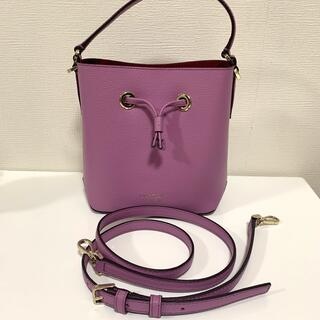 kate spade new york - ケイトスペード エヴァスモールバケット パープル 巾着型 ハンドバッグ