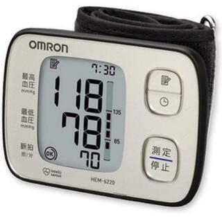 オムロン(OMRON)のオムロン 血圧計 手首式 HEM-6220-SL 新品未使用(その他)