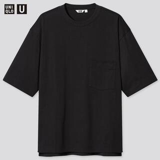 UNIQLO - ユニクロU オーバーサイズクルーネックT ブラック Lサイズ