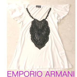エンポリオアルマーニ(Emporio Armani)の新品 EMPORIO ARMANI エンポリオアルマーニ ビーズ Tシャツ(Tシャツ(半袖/袖なし))