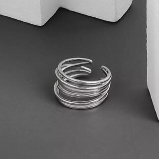 FREAK'S STORE - Thin line silver ring No.608