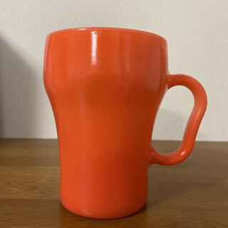 ファイヤーキング(Fire-King)のファイヤーキング ソーダマグ オレンジ(グラス/カップ)