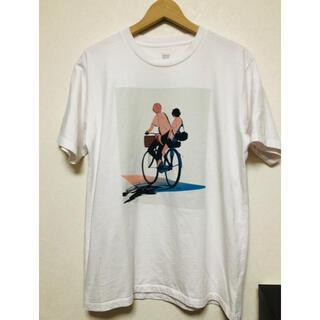 グラニフ(Graniph)の時をかける少女 グラニフ Tシャツ コラボ ホワイト(Tシャツ/カットソー(半袖/袖なし))