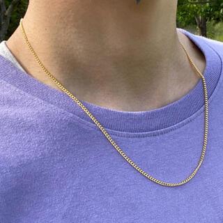 【2mm】ゴールド チェーンネックレス メンズ ネックレス 50cm