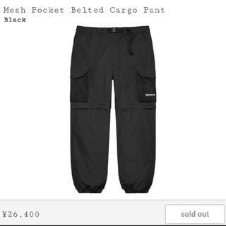 シュプリーム(Supreme)のsupreme mesh pocket belted cargo pant XL(ワークパンツ/カーゴパンツ)