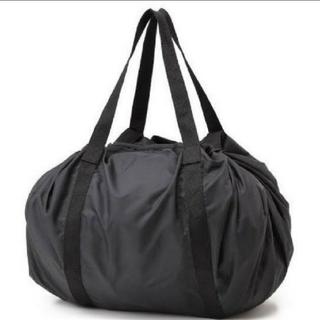 ムジルシリョウヒン(MUJI (無印良品))のMUJI無印良品 ポケッタブルバッグ 【黒】(エコバッグ)