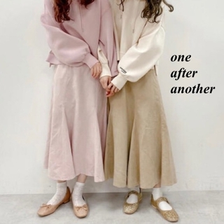 one after another NICE CLAUP - 新品 one after another BACKリボンスエードスカート