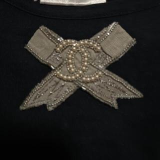 シャネル(CHANEL)の美品 シャネル Tシャツ CHANEL  CCマーク パール リボン トップス(カットソー(半袖/袖なし))