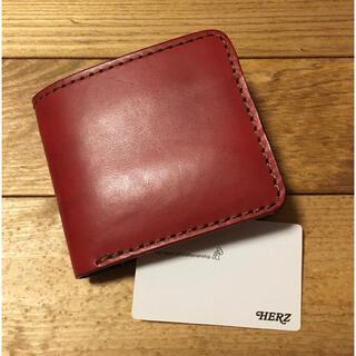 HERZ - 未使用保管 herz 二つ折り財布 赤レッドRED 限定 レザー本革