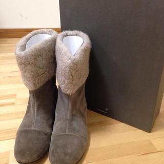 ミナペルホネン(mina perhonen)のmina perhonen ショートブーツ 23.5(ブーツ)