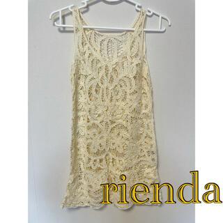 リエンダ(rienda)のrienda▸︎▹︎ミニワンピース S(ミニワンピース)