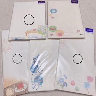 封筒セット 夏封筒 夏用 スイカ封筒 花火 レターパッド用封筒 ホールマーク