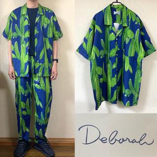 ワコマリア(WACKO MARIA)の90's セットアップ 総柄 ボタニカル サボテン パジャマシャツ(シャツ)