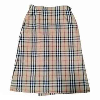 バーバリー(BURBERRY)のBURBERRY リバーシブル巻きスカート ノバチェック (ひざ丈スカート)
