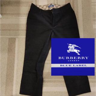 バーバリーブルーレーベル(BURBERRY BLUE LABEL)のバーバリーブルーレーベル バーバリー パンツ 七分丈 36 S M(カジュアルパンツ)
