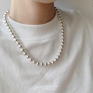 DEUXIEME CLASSE - Silver925p_ Navajo ball necklace (8mm)