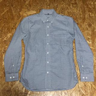 MUJI (無印良品) - 無印良品 ボタンダウンシャツ アイロンがけのいらない ブラック