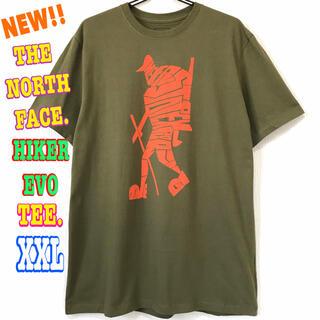 ザノースフェイス(THE NORTH FACE)のレアモデル ♪ ノースフェイス ハイカーEVO Tシャツ オリーブ XXL 3L(Tシャツ/カットソー(半袖/袖なし))