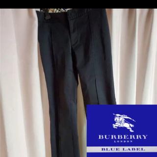 バーバリーブルーレーベル(BURBERRY BLUE LABEL)のバーバリーブルーレーベル バーバリー パンツ スラックスS M レディース   (カジュアルパンツ)