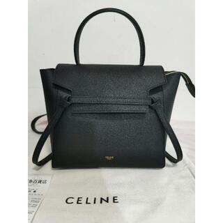 celine - 美品♡ CELINE セリーヌ ベルトバッグ マイクロ ブラック