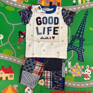 DOUBLE.B - 新品・美品 ミキハウス ダブルB  半袖Tシャツ ハーフパンツ90  2点セット