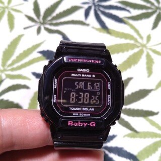 Baby-G - 電波ソーラー 腕時計 CASIO Baby-G bgd-5000 ブラック
