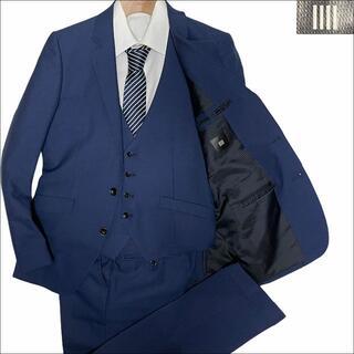 THE SUIT COMPANY - J5231 超美品 スーツセレクト 3ピース サマースーツ ネイビー A5