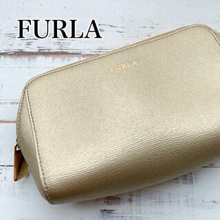 Furla - 【美品】FURLA フルラ ゴールド ポーチ 高級感