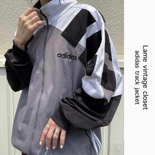 adidas - 90s 古着 アディダス クレイジーパターン トラックジャケット 刺繍ロゴ
