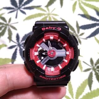 ベビージー(Baby-G)のCASIO Baby-G ba-110sn ジーショック ブラック×レッド(腕時計)