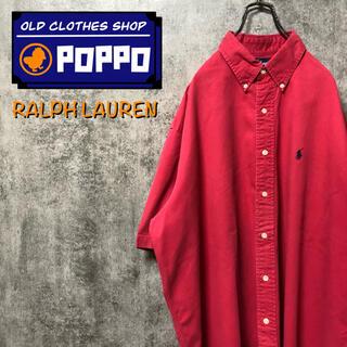 ラルフローレン(Ralph Lauren)のラルフローレン☆ワンポイント刺繍ロゴ半袖ビッグチノボタンダウンシャツ 90s(シャツ)