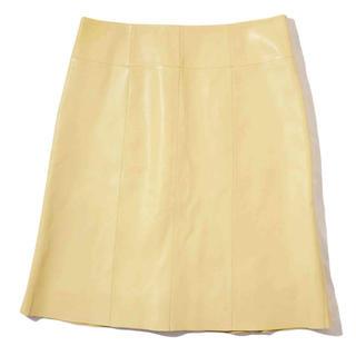 ロエベ(LOEWE)のロエベ ラムレザー スカート(ひざ丈スカート)