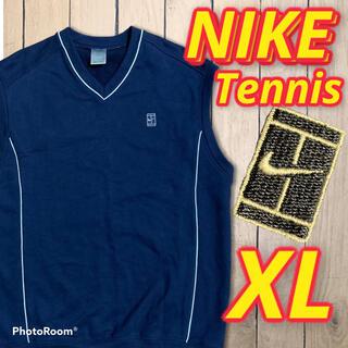 ナイキ(NIKE)のNIKE 90s ベスト テニス ロゴ 刺繍 ナイキ ネイビー 紺(ベスト)