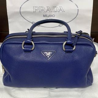 プラダ(PRADA)のプラダ ミニボストン バッグ ストラップ付き 正規品 本物 美品(ボストンバッグ)
