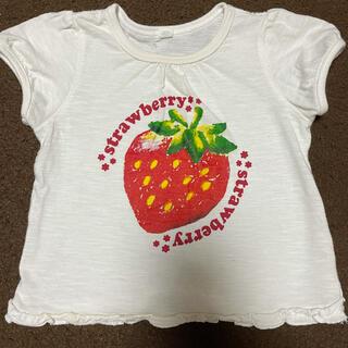 ニシマツヤ(西松屋)のいちご柄 半袖Tシャツ 80(Tシャツ)